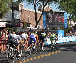 Sprint to the finish in Clovis, CA stage