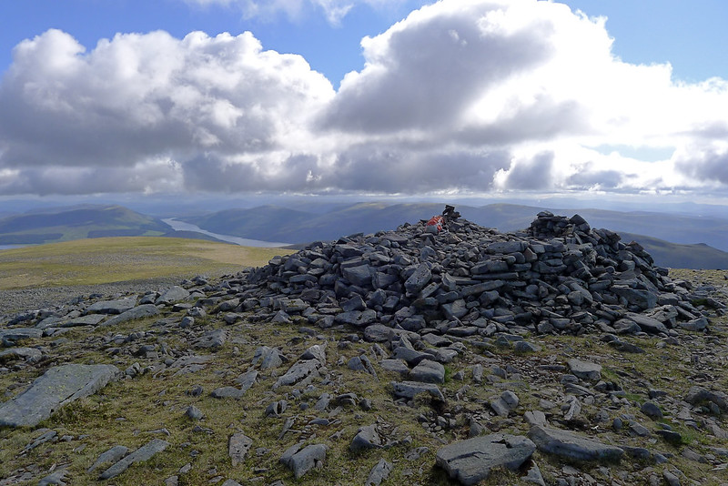 Summit cairn of Ben Alder