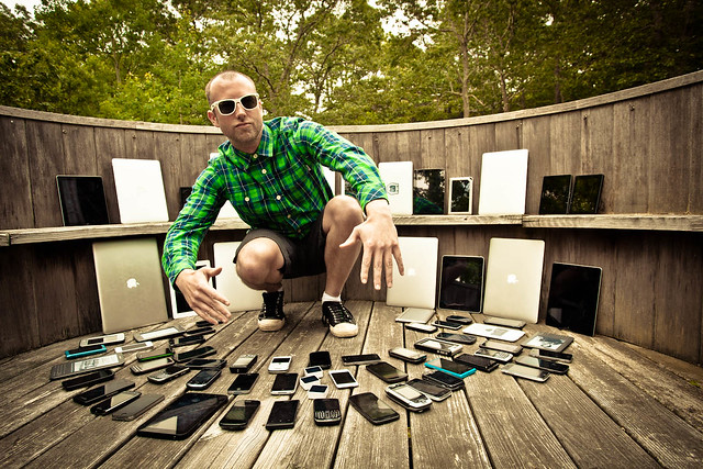 This is a collection of all the computers and mobile devices we brought at Mobilewood 2
