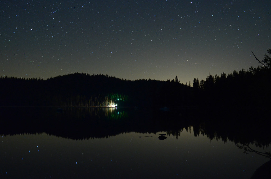 Lake at night