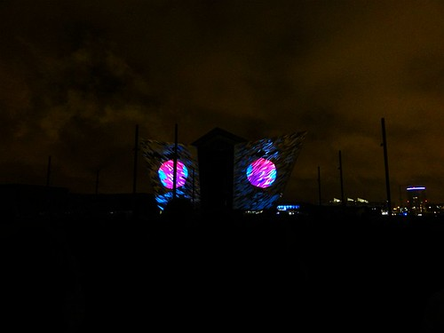 Titanic Belfast Light Show 11