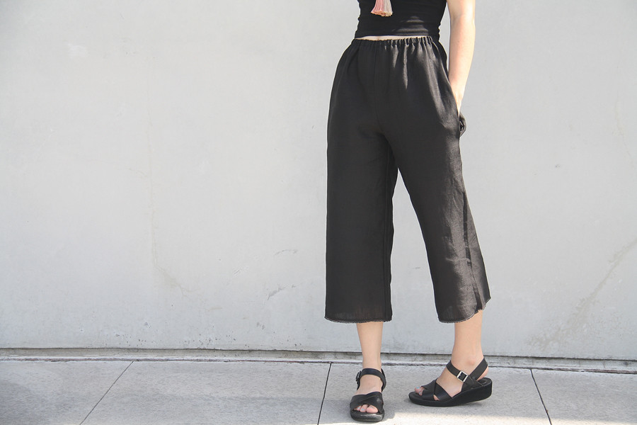 simple modern sewing: crop pants