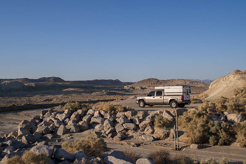 Four Wheel Camper at the Trona Rocks