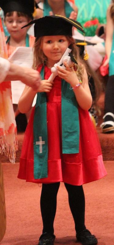 Cordelia's first preschool graduation