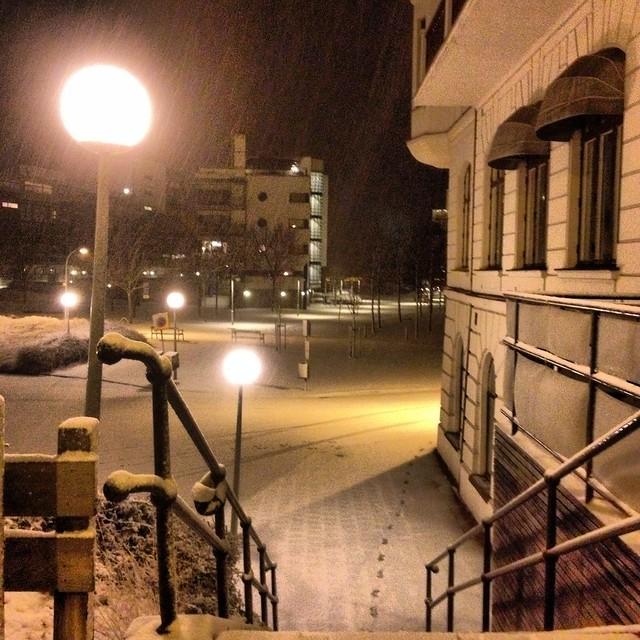 helsingborg in the snow