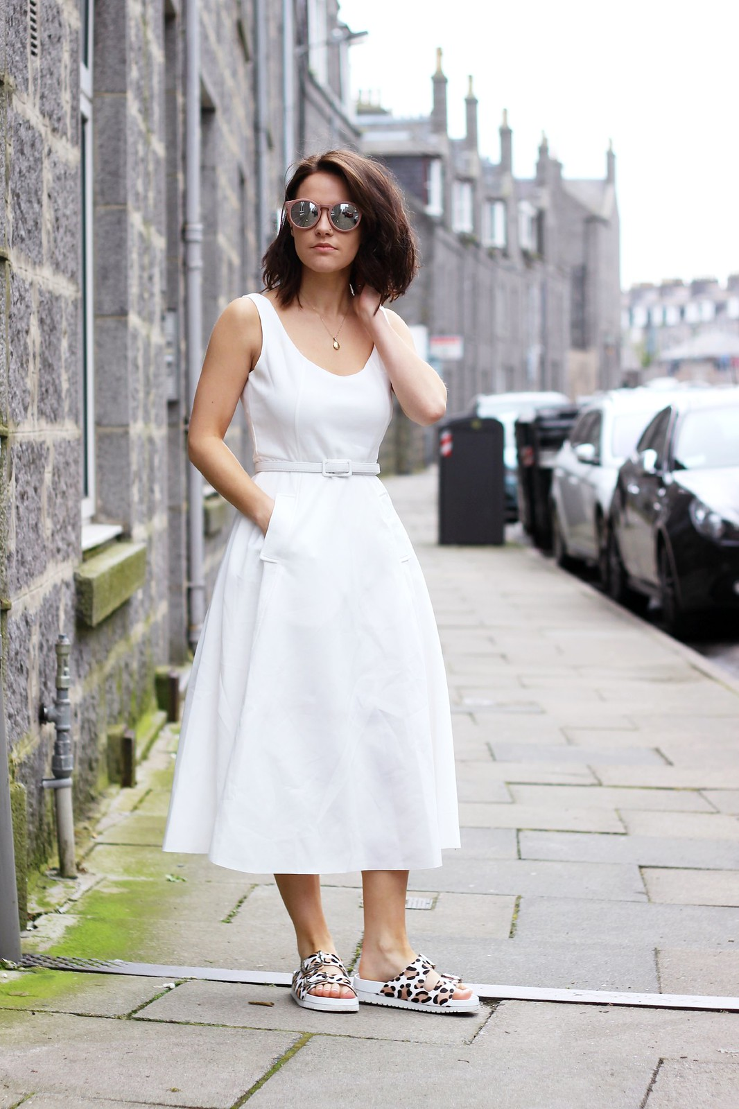 Choies white off shoulder midi dress 1