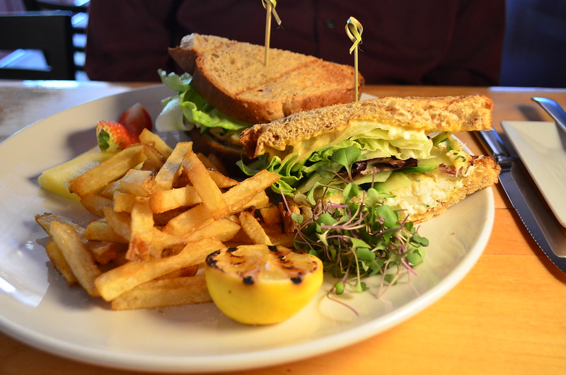 Crabmeat Sandwich and Fries
