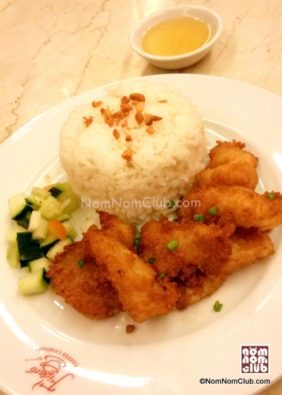Breaded Fish Rice Meal
