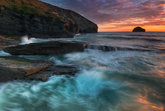 Trebarwith sunset