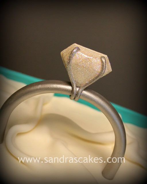 gumpaste engagement ring flickr photo