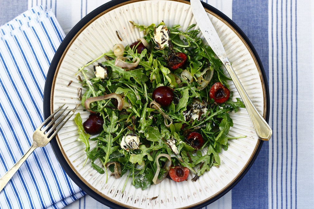 Cherry, Arugula + Wild Rice Salad