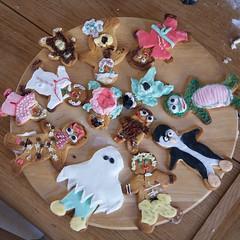 Miranda Making Gingerbread Men - 3 July 2011