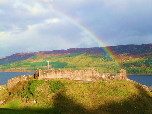 Rainbow at Castle Urquhart, Scotland