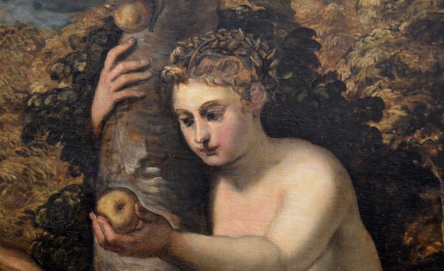 Tintoretto Adam And Eve Temptation of Adam And Eve