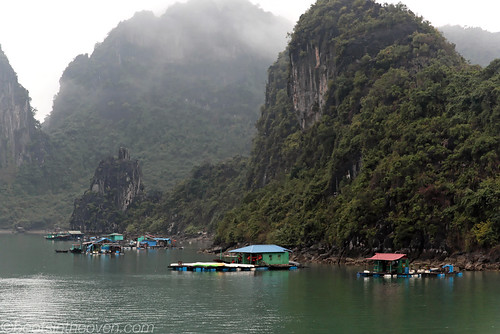 Small, dramatic fishing village