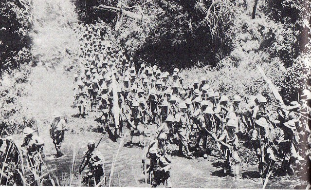 36. South African infantry advance towards the Kahe battlefield, March 1916