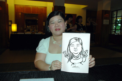 caricature live sketching for Rio Tinto Dinner & Dance - 3