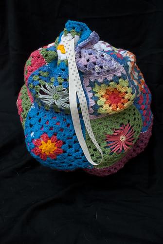 Crocheted crochet bag