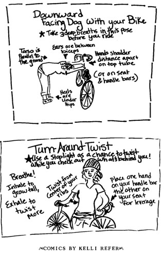yoga with your bike - by kelli refer