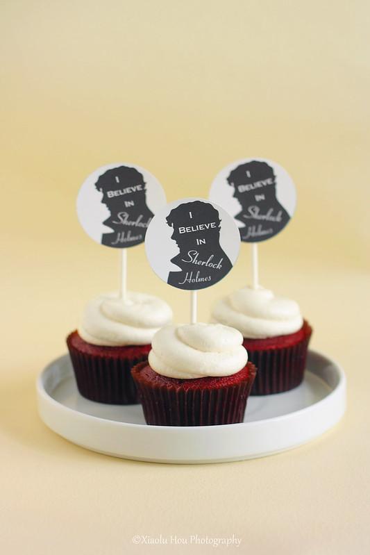 I Believe in Sherlock Cupcakes!
