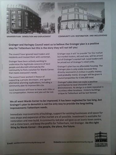 Wards Corner restoration - community leaflet