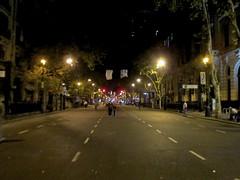 Looking down Avenue de Mayo