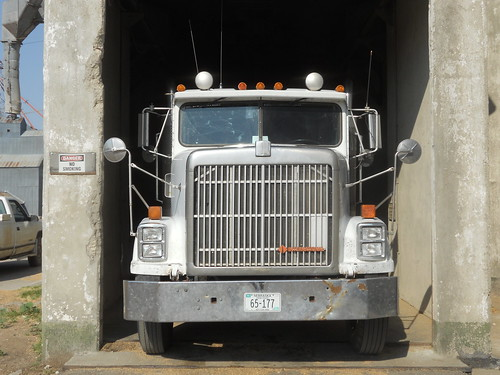 Tight squeeze into the concrete pit in Hoxie