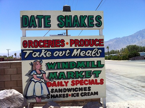 heading out of the desert; stopped to grab a date shake.
