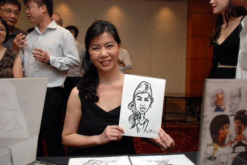 Caricature live sketching for The Bank of East Asia Staff Annual D&D - 4