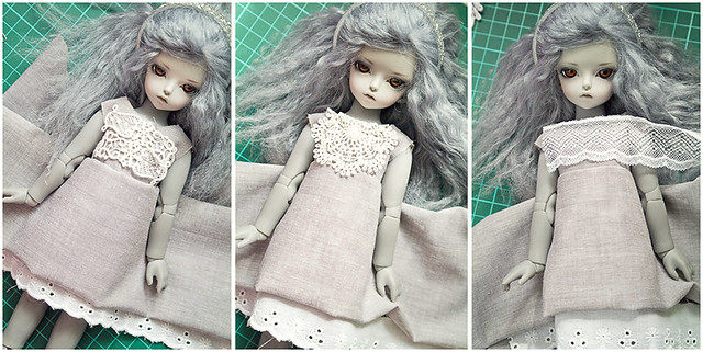 "Make a dress for ""Doll craft challenge"" ^^"