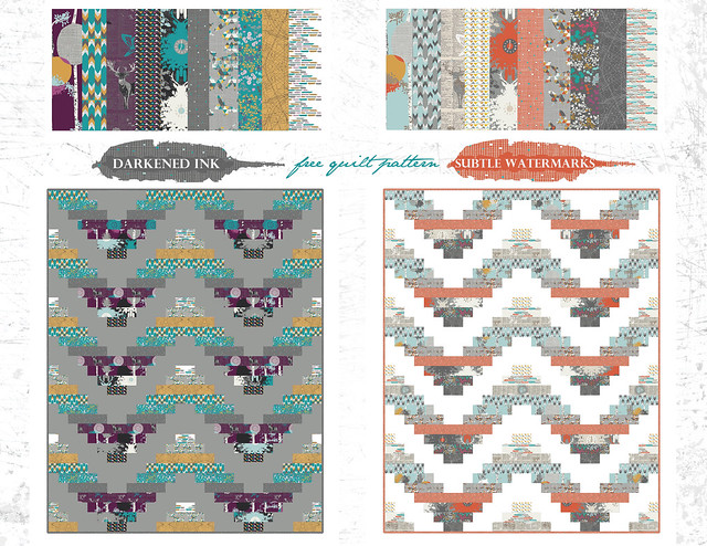 Indelible collection - stamped free quilt pattern