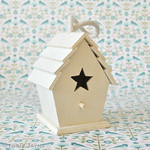 Star front mini bird house