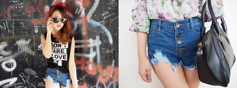 B2 Denim shorts