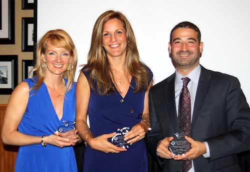 Jennifer Cronk, Sabrina Rich and Jesse Lubinsky pictured with their Pioneer Awards