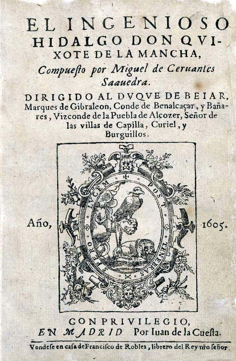 Don Quixote, Titelblatt 1605