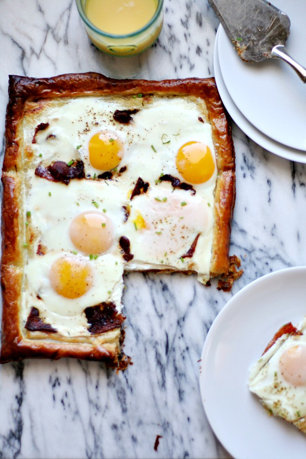 Bacon and Egg Puff Pastry Tart | heathersfrenchpress.com #fathersday