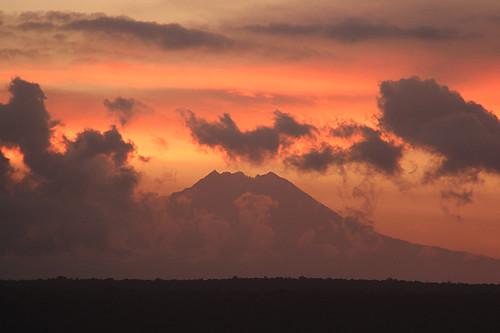 volcano @ sunset