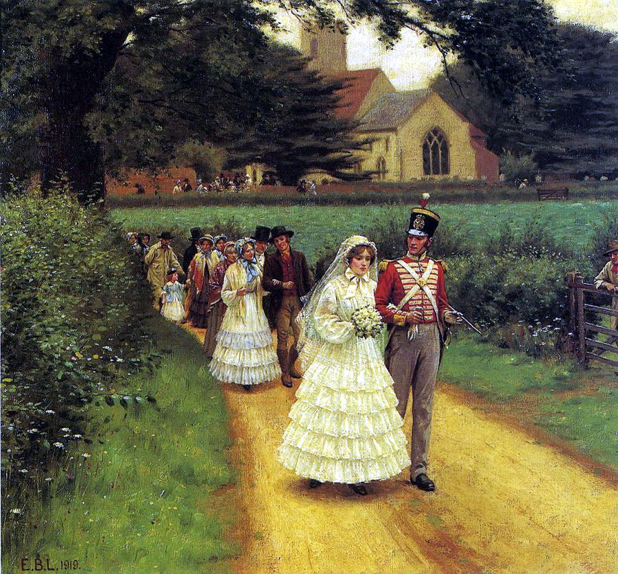 Wedding march by Edmund Blair Leighton