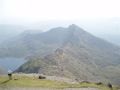 The route descending from Snowdon and up onto Y Lliwedd Image