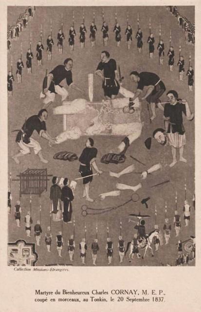 Bienheureux Cornay, coupé en morceaux au Tonkin le 20 Septembre 1837