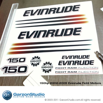 EVINRUDE 150 bombardier Ficht Ram Injection decals kit | Flickr