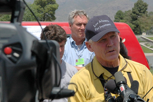 Doug Tucker, chief of Los Alamos Fire Department, at news conference, Los Alamos, June 30, 2011