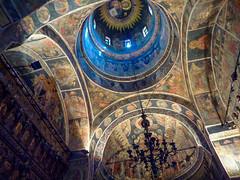The interior of the Biserica Stavropoleos (Bucharest), Romania