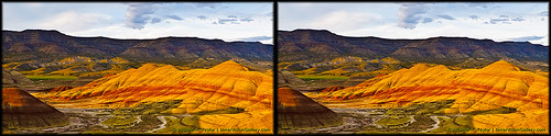oregon landscape photo stereoscopic stereophoto stereophotography 3d crosseye crosseyed stereo stereoview stereopair paintedhills johnday stereo3d freeview stereophotograph crossview xview 3dphoto 3dstereo 3dpicture canong11
