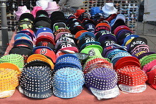 Headwear at the market