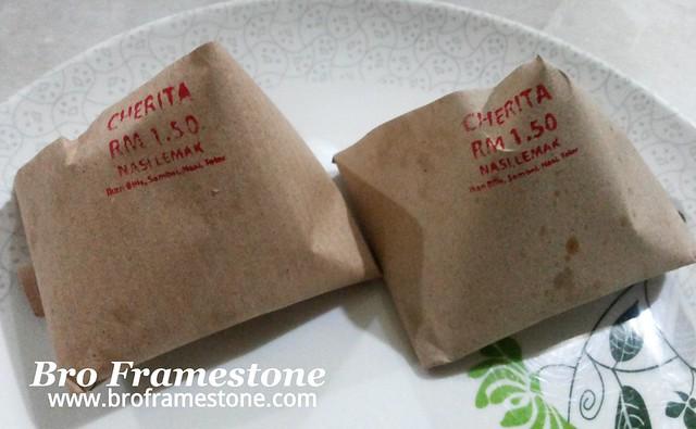 Nasi Lemak Cherita - RM1.50