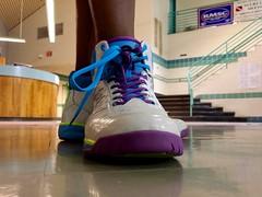 Shoe modeling at Olney Swim Center, April 28, 2014