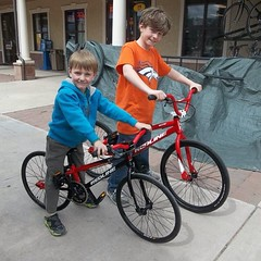 The Eaton Brothers w/ their new @redlinebicycles @redline_bmx #bmx #cycling future rippers