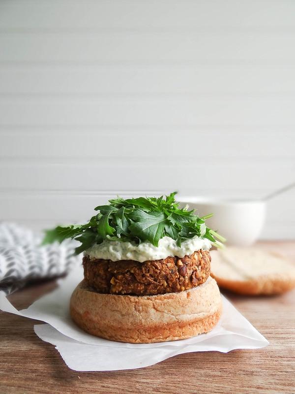 falafel veggie burgers