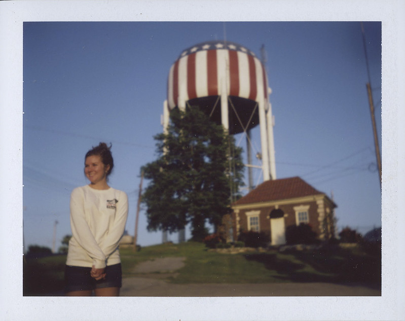 Karissa and the water tower